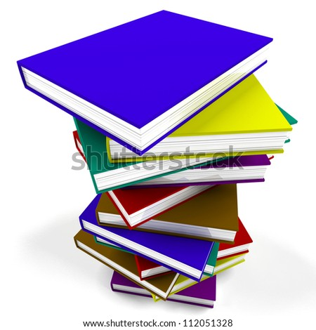 Stack Of Books Representing University And Education