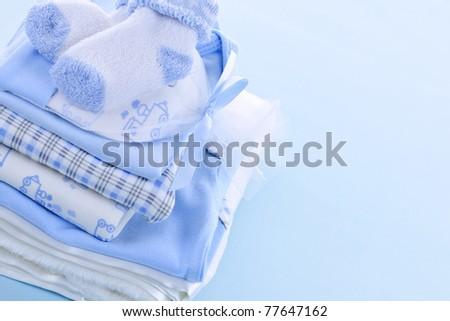 ... shower on blue background 77647162 by Elena Elisseeva @ ShutterStock