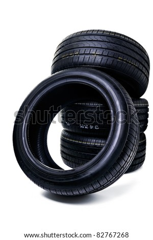 Stack Of Car Tires