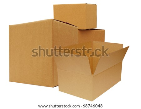 stack of carton boxes on shipping
