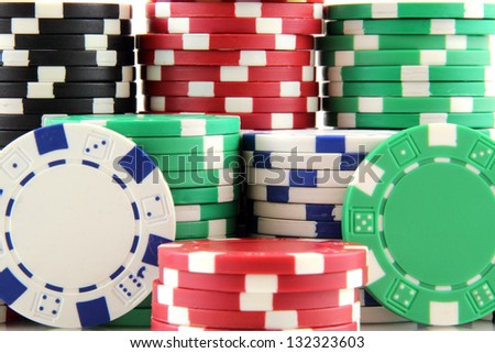 stack of casino gambling chips