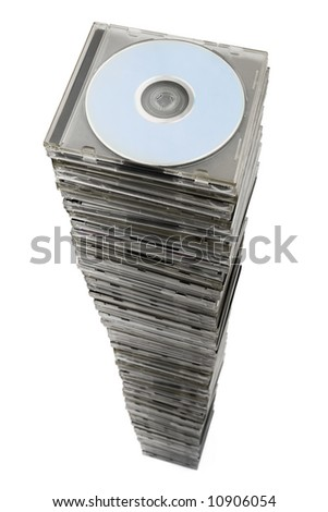 Stack of cd, isolated on white background
