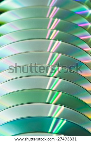 stack of CDs for background