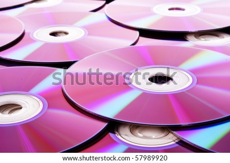 Stack of Cds isolated on white background