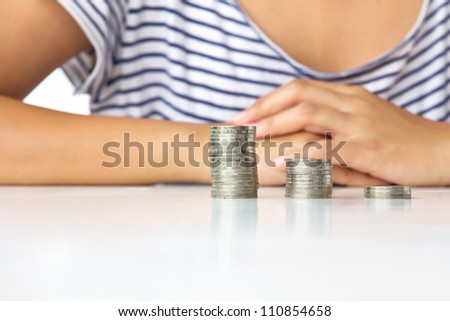 Stack of coins ,investment concept