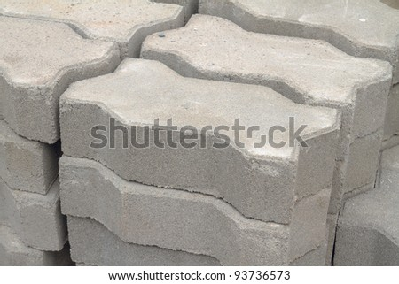 Stack of concrete pave block