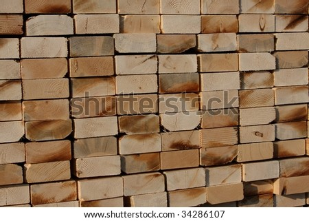 Stack of construction lumber #34286107