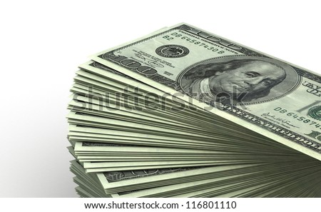 Stack of Dollar concept (computer generated image)