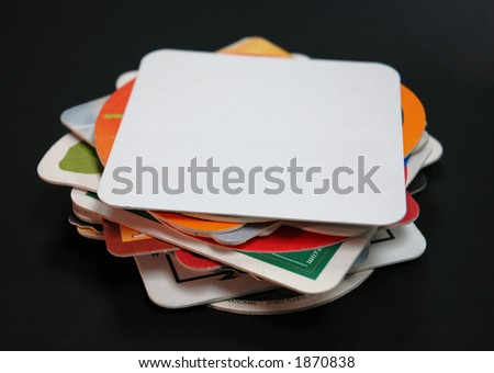 stack of drink coasters