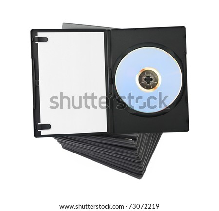 Stack of dvd isolated on white background