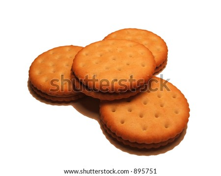 Stack of Four Snack Crackers