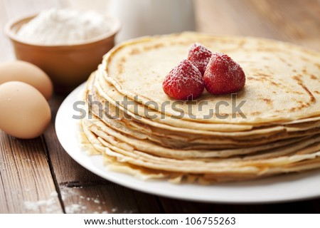 stack of freshly made crepes