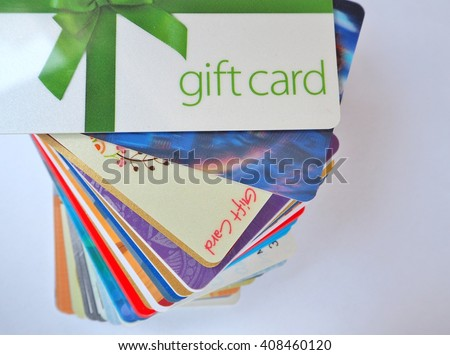 stack of gift cards #408460120