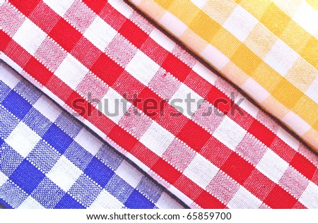 Stack of Gingham cloths.