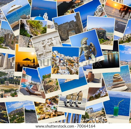 Stack of Greece shots  - nature and travel background (my photos)