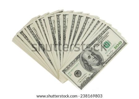 Stack of hundred-dollar bills