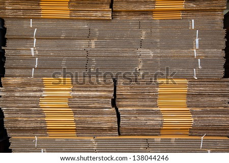 Stack of industrial paper
