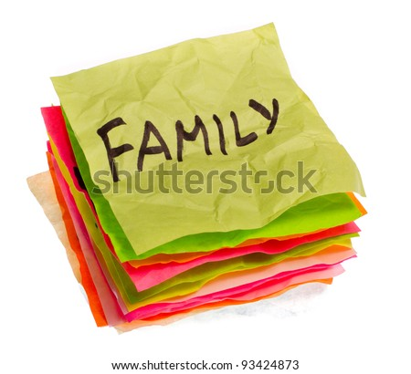 stack of life options and choices isolated on white