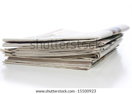 Stack of local, regional, national and international newspapers