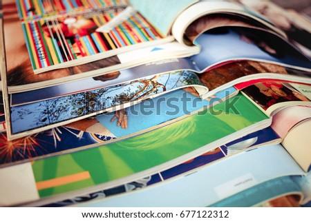 Stack of magazines Stockfoto ©