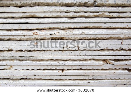 Stack of marble tiles for home remodeling - closeup