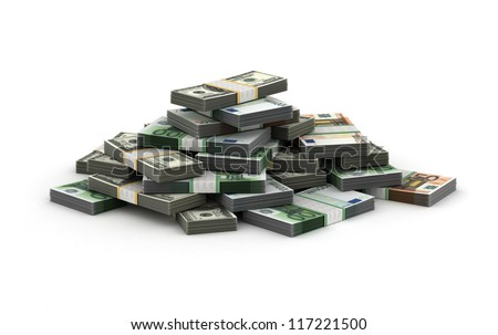 Stack of Money Concept (Computer generated image)