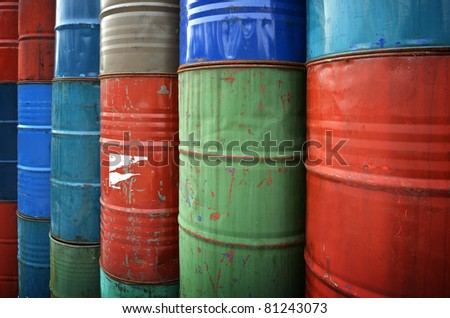stack of oil drums