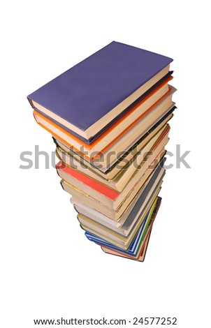 Stack of old books 5 - stock photo