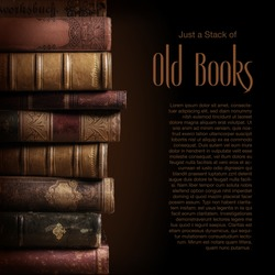 stack of old books, copyspace for your text