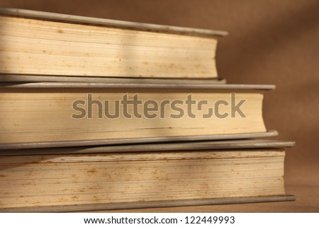 stack of old books for success concept