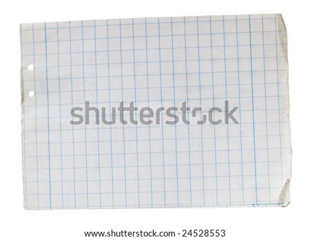 Stack Of Old Lined Papers From Note Book Clipping Path Included – Lined Papers