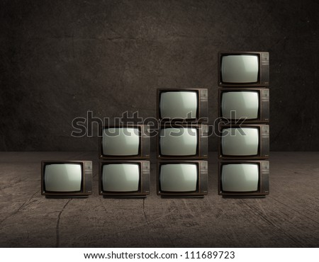 Stack Of Old Television, Indoors