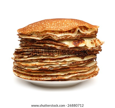 stack of pancakes - russian food
