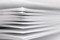 stack of paper, a fragment of a book or magazine