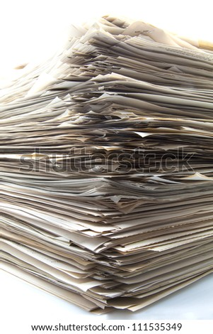 Stack of papers for office