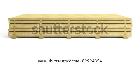 stack of planks, isolated 3d render