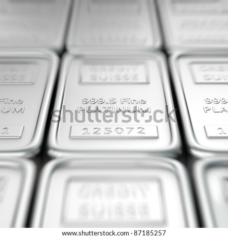 Stack of platinum ingots