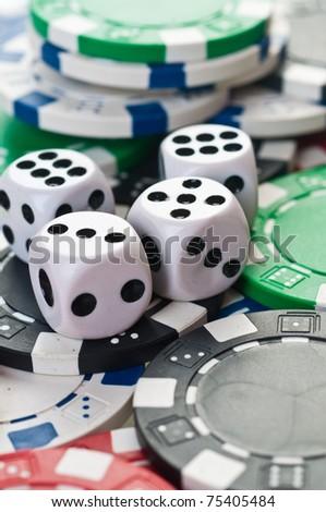 stack of poker color chips