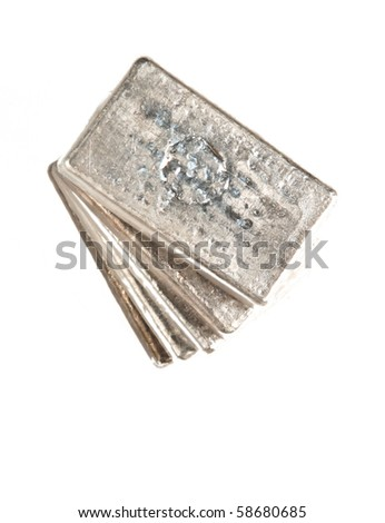 stack of pure silver bars