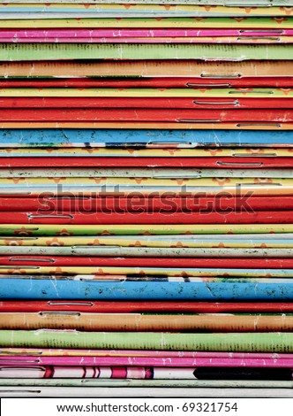 Stack of recycle magazines