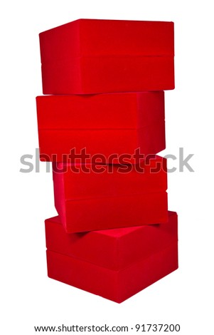 Stack Of Red Box
