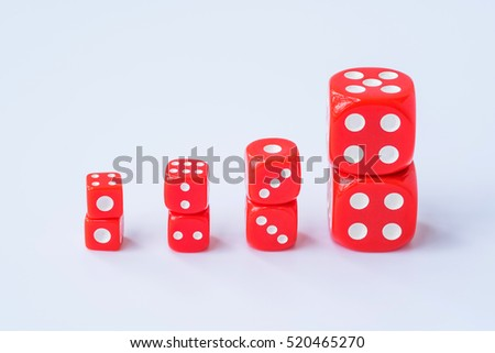 stack of red dice #520465270