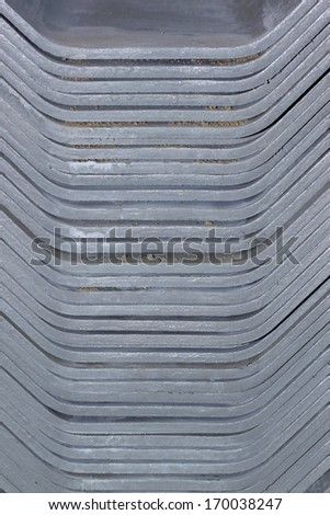 Stack of roofing tiles. texture