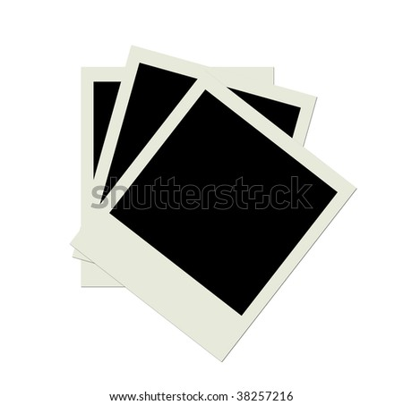 Stack of several blank  photo shots