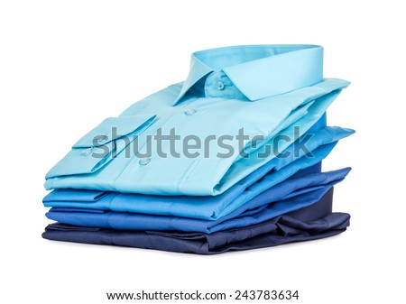 Stack of Shirts, Isolated over white #243783634