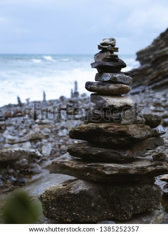 Stack of stones in perfect balance