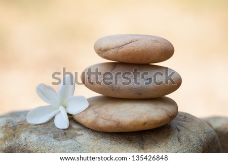 Stack of stones in stable concept