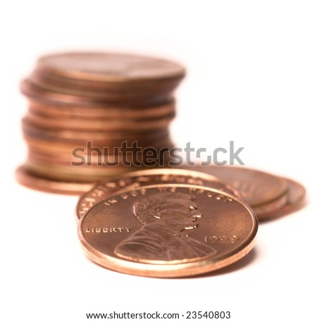 stack of US pennies