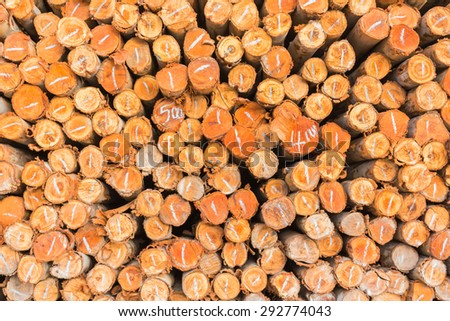 Stack of wooden, Old wooden blur background. #292774043