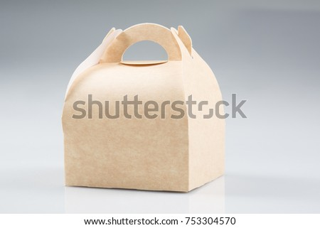 Stack Takeaway Cardboard Food Boxes in White Background #753304570